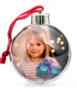 Bolas Navidad Esféricas Con Foto