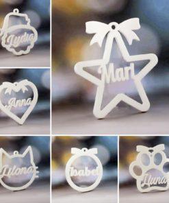 Bolas de Navidad Metacrilato Blanco